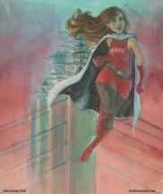 2016 - Acrylic ink on bristol - Flyer for Kansas City Comic Con
